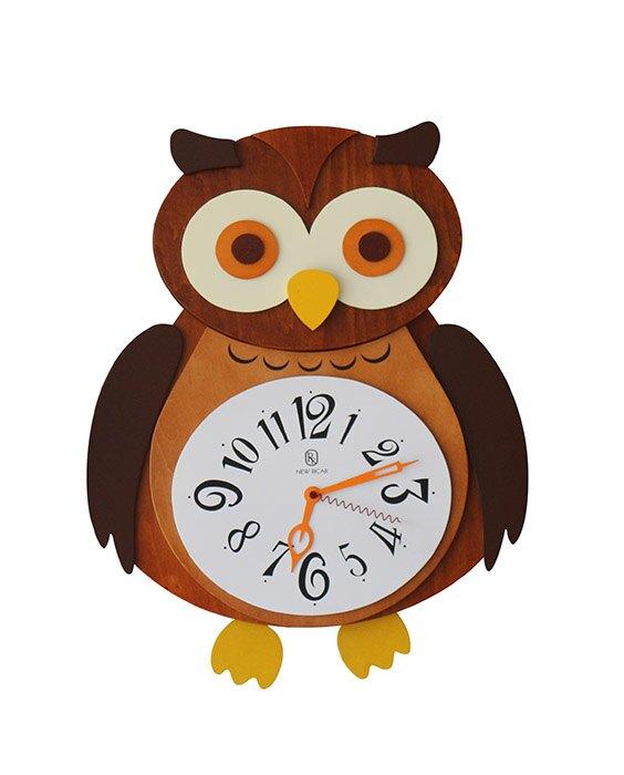 【尚品傢俱】 896-06 貓頭鷹鐘/造型時計/壁掛鐘/藝術飾鐘/美術時刻鐘/行針鐘/時鐘//Clock
