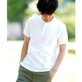 ジョルダーノ(メンズ)(GIORDANO) [GIORDANO]スモールライオン刺繍ポロシャツ【ホワイト/XXL】