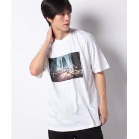 (GIORDANO/ジョルダーノ)[GIORDANO]グラフィックプリントTシャツ (シティー)/メンズ ホワイト