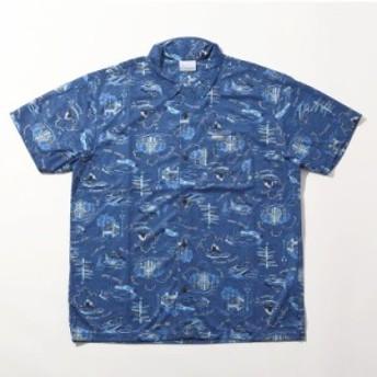 コロンビア ドクターデニム ホンザワ コラボ ポーラーパイオニアショートスリーブシャツ メンズ PM6910