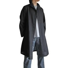 ビルマシルクのサマーコート 黒(JNN-051-01)