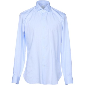 《期間限定セール開催中!》MARIA SANTANGELO Napoli メンズ シャツ スカイブルー 40 コットン 100%