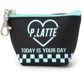 PINK-latte(ピンク ラテ) PVCフック付きハートロゴミニポーチ
