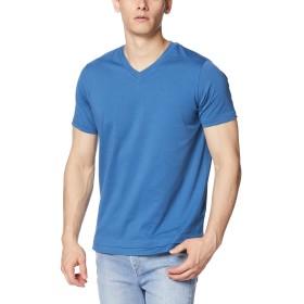 (ディーゼル) DIESEL メンズ Tシャツ レイヤーデザインVネックTシャツ 00SW7Q0091A L ブルー 8BR