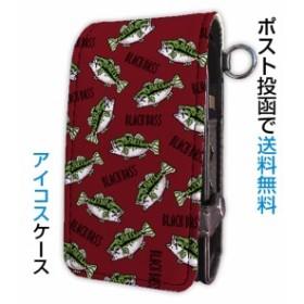IQOS アイコスケース メンズ シール カバー シンプル デザイン 収納 おしゃれ かっこいい 格好いい 釣り 魚 ルアー 釣りざんまい アイコ