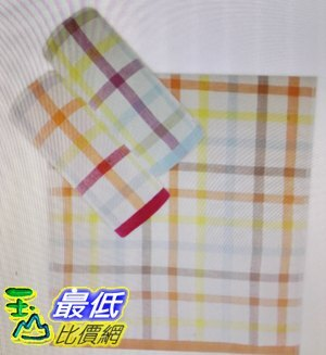 [COSCO代購 如果售完謹致歉意] W121066 Gemini 無捻紗彩條色織紗布毛巾6入組 34 x 76 公分