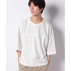 (WEGO/ウィゴー)WEGO/ミニ裏毛7分袖プルオーバー/メンズ ホワイト