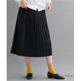 (merlot/メルロー)プリーツスカート1878/レディース ブラック