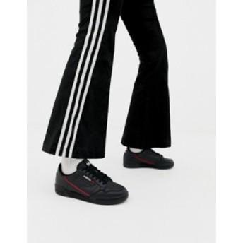 アディダス レディース スニーカー シューズ adidas Originals Continental 80 sneakers in black Core black