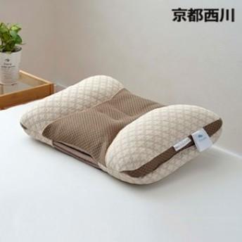 枕 まくら ピロー 西川 ハイバランスピロー 枕 ベージュ 約37×55cm