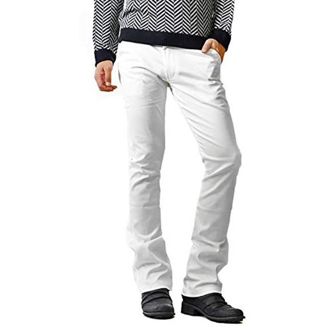 [ルービック] シューカットストレッチチノパン メンズ スキニーパンツ XL ホワイト