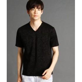 (HIDEAWAYS NICOLE/ハイダウェイニコル)ムラモチーフ柄ジャカードTシャツ/メンズ 49ブラック 送料無料