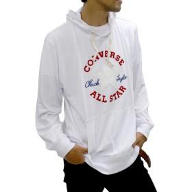 [コンバース] 大きいサイズ メンズ Tシャツ 長袖 パーカー ホワイト 4L