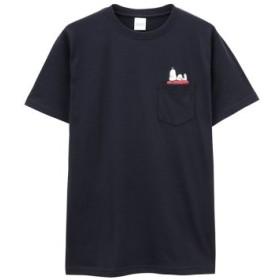 (MAC HOUSE/マックハウス)プリントTシャツ 391153102-4/メンズ ネイビー