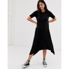 ニュールック レディース ワンピース トップス New Look smock tunic midi dress in black Black