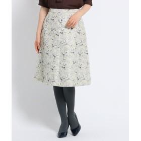 SunaUna(スーナウーナ) 【洗える】プチジャカードワイルドフラワースカート