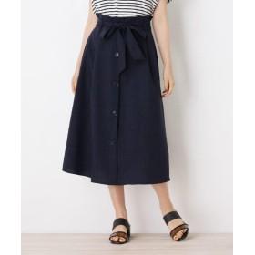 grove リネンタッチフロントボタンスカート