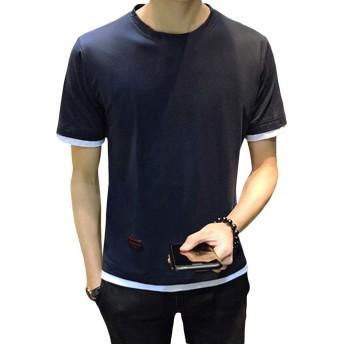 [FOMANSH]Tシャツ メンズ クルーネック 半袖 M-5XL 綿 無地 ゆったり