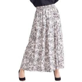 [マルイ] 大きいサイズ レディース スカート ウエストゴム ボタニカル 星柄 花柄 裏地 フレア/ゴールドジャパン(大きいサイズ)(GOLDJAPAN)