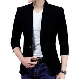 メンズ テーラードジャケット コーデュロイ生地 通勤 上品  サラリーマン 紳士修身 上品 紳士修身 スリム 型崩れない 優れ パーテイー ビジネス  (カラー5, XXXL)