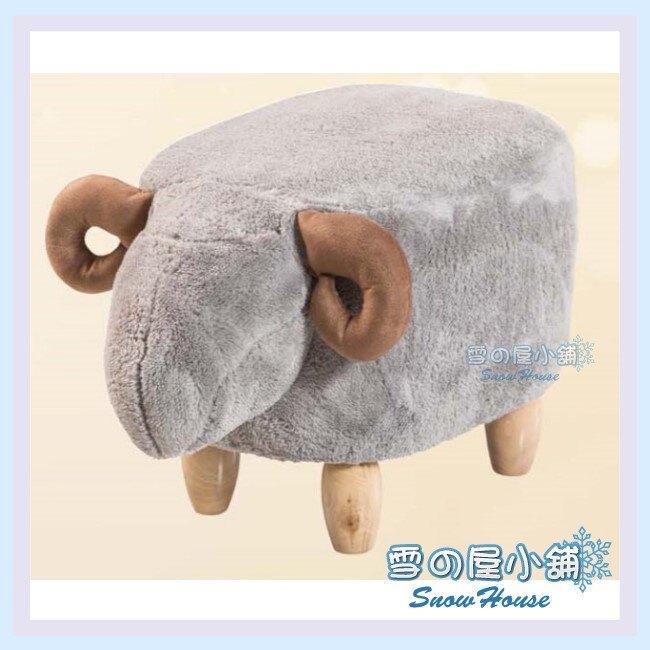 ╭☆雪之屋居家生活館☆╯R475-09 灰山羊造型椅凳(絨毛布)/小沙發/休閒椅/矮凳/和室椅/造型椅