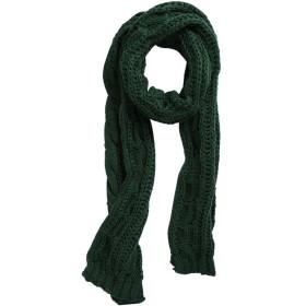 uxcell ロングスカーフ ニット マフラー ネックウォーマー ケーブル編み 防寒 冬 レディース グリーン マフラー