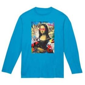 【国内発送】15色 PAROTTA パロッタ Mona Lisa モナリザ Pop Art ポップアート ストリート グラフィティ パロディ 長袖Tシャツ ターコイズ XSサイズ