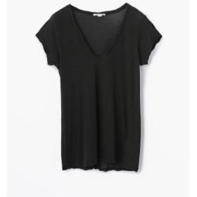 (TOMORROWLAND/トゥモローランド)ハイゲージ VネックTシャツ WEK3182/レディース 19ブラック