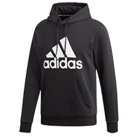 [adidas]アディダス M MUSTHAVES BADGE OF SPORTS プルオーバースウェットパーカー (裏起毛) (FSD57)(DT9945) ブラック/ホワイト[取寄商品]