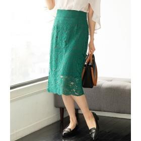 ViS ビス フラワーレースタイトスカート