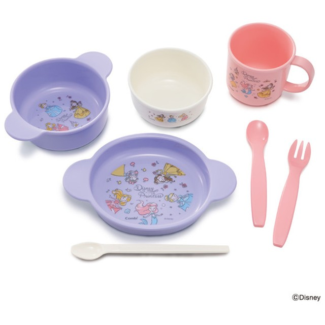コンビ スマイル 食器セットH ディズニープリンセス 育児用品 お食事用品 食器セット・単品 (48)
