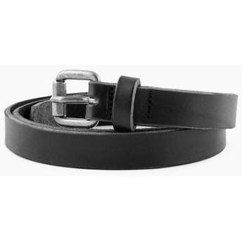 [ヌーディージーンズ] Nudie Jeans 正規販売店 メンズ ベルト DANSSON SLIM LEATHER BELT BLACK B01 180637 B01 Black 180637 95(93~98cm) (コード:4106056213-6)