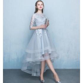 チュール パーティー 宴会 フィッシュテール ドレス ワンピース 大きいサイズ 発表会 披露宴 結婚式 二次会