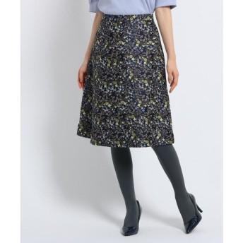 SunaUna / スーナウーナ 【洗える】プチジャカードワイルドフラワースカート