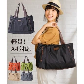 軽量ナイロントートバッグ(A4対応) トートバッグ・手提げバッグ, Bags, 鞄