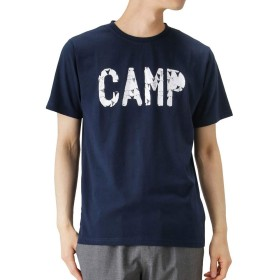 SIERRA DESIGNS プリントTシャツ 半袖Tシャツ クルーネック プリントTシャツ 20933286 メンズ ネイビー:L