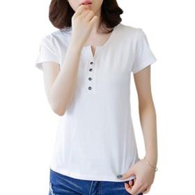 (オール ホワイト) ALL WHITE 大人 可愛い 清楚 キュート 着回し力抜群 レディース Tシャツ カットソー ( 大きい サイズ あり ) aw-1729