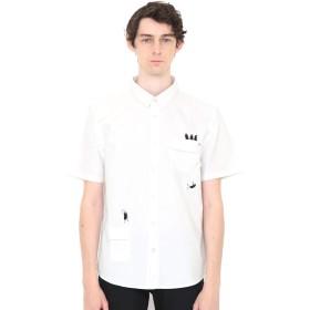 (グラニフ) graniph ポケット付き 半袖 シャツ トレイン ビューティフルシャドー (ホワイト) メンズ レディース M (g06) (g20)