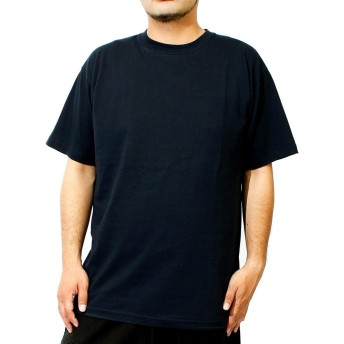 Tシャツ メンズ 大きいサイズ 半袖 クルーネック オープンエンド マックスウェイト 無地 カットソー 5XL ネイビー