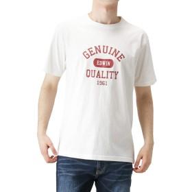 EDWIN エドウィン プリントTシャツ 半袖Tシャツ クルーネック ホワイト ET5763-318 メンズ ホワイト:M