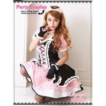 コスプレ 衣装 コスチューム コンパニオン 衣装 パーティー 仮装 Ryuyu 猫 小悪魔ageha コスチューム キャットガール