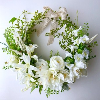White & Green wreath
