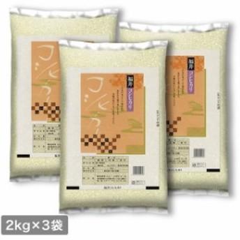 米 お米 福井県産 コシヒカリ 精米 2kg×3袋 計6kg 平成30年産