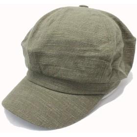 プレーンコットンキャスケット ハンチング 帽子 カーキ