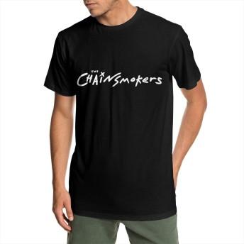 メンズ 丸襟 Tシャツ The Chainsmokers チェーンスモーカーズ 半袖 Tシャツ メンズ おしゃれ 快適な 無地 軽い 柔らかい カジュアルtシャツ 綿 夏 シンプル 父の日 通勤 通学