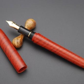 プラチナ万年筆#3776 センチュリー用銘木軸 【アフリカ血檀】 全縮み杢特殊材
