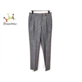 ダックス DAKS パンツ サイズ79 メンズ アイボリー×黒×ダークブラウン チェック柄   スペシャル特価 20191109