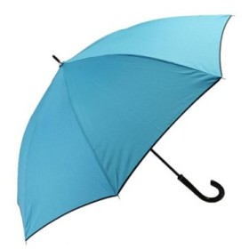 (BACKYARD FAMILY/BACKYARD FAMILY)FTW0023 FTW0010 耐風傘 耐風設計 A式ボタン/レディース 無地ブルー