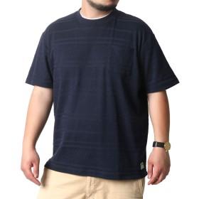 [スミスアメリカン] 大きいサイズ メンズ Tシャツ 半袖 ポケット ネイビー 4Lサイズ:(身丈80cm 肩幅56cm 身幅66cm 袖丈26cm 胸囲112~120cm)
