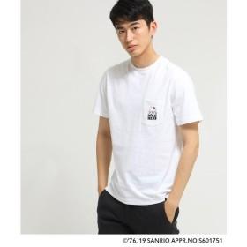 BASE STATION / ベースステーション ハローキティ Hello Kitty 別注 バックプリント 半袖 Tシャツ
